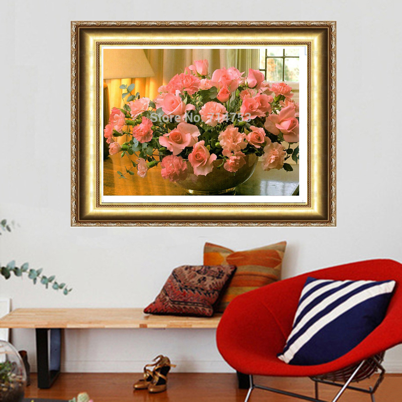 2018 Rushed Direct Selling For Square Drill Peony Home Decoration 3d Diy Diamond Painting Flowers Needlework Full Embroidery