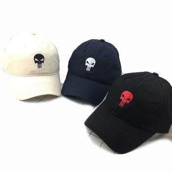 High Quality Embroidered Hero US Punisher SKULL Logo Baseball Cap Snapback Hats Outdoor Casual & Sport Cap hats bone para bordar