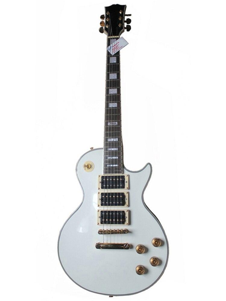Guitare électrique chinoise OEM de qualité chaude, guitare électrique de couleur blanche, touche d'érable, vente chaude
