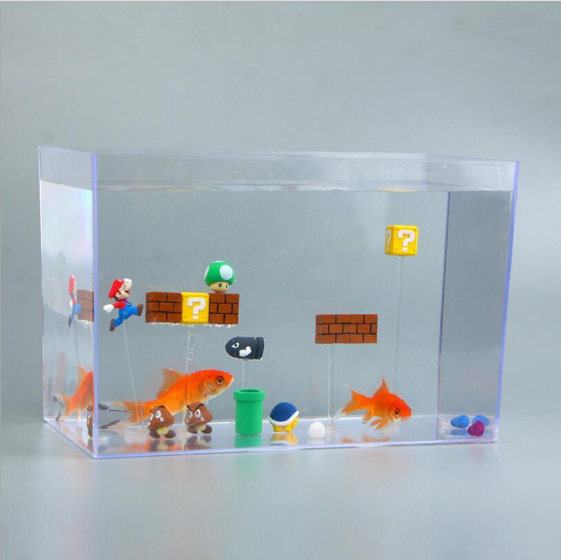 Mini Super Mario Bros Figure Mario Bullet Mushroom Tortoise  mario bros yoshi juguets PVC Action Figure Model Toy DIY Decor Gift