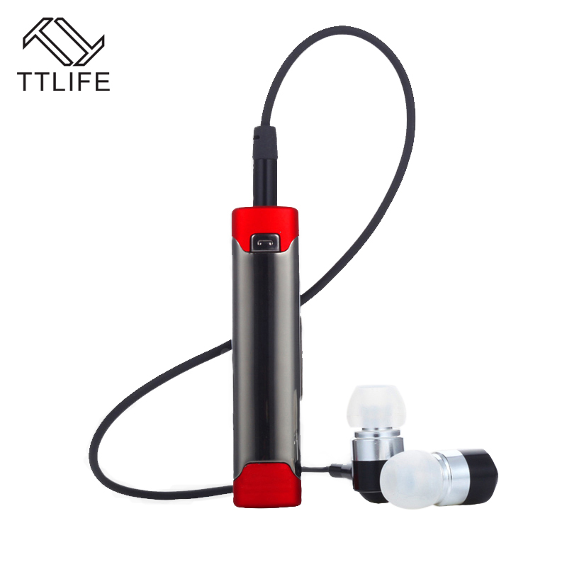 TTLIFE New HiFi Sport Heavy Bass Lavalier Auricular Wireless Headphones Blue Tooth Headset Microphone Bluetooth Stereo Headphone