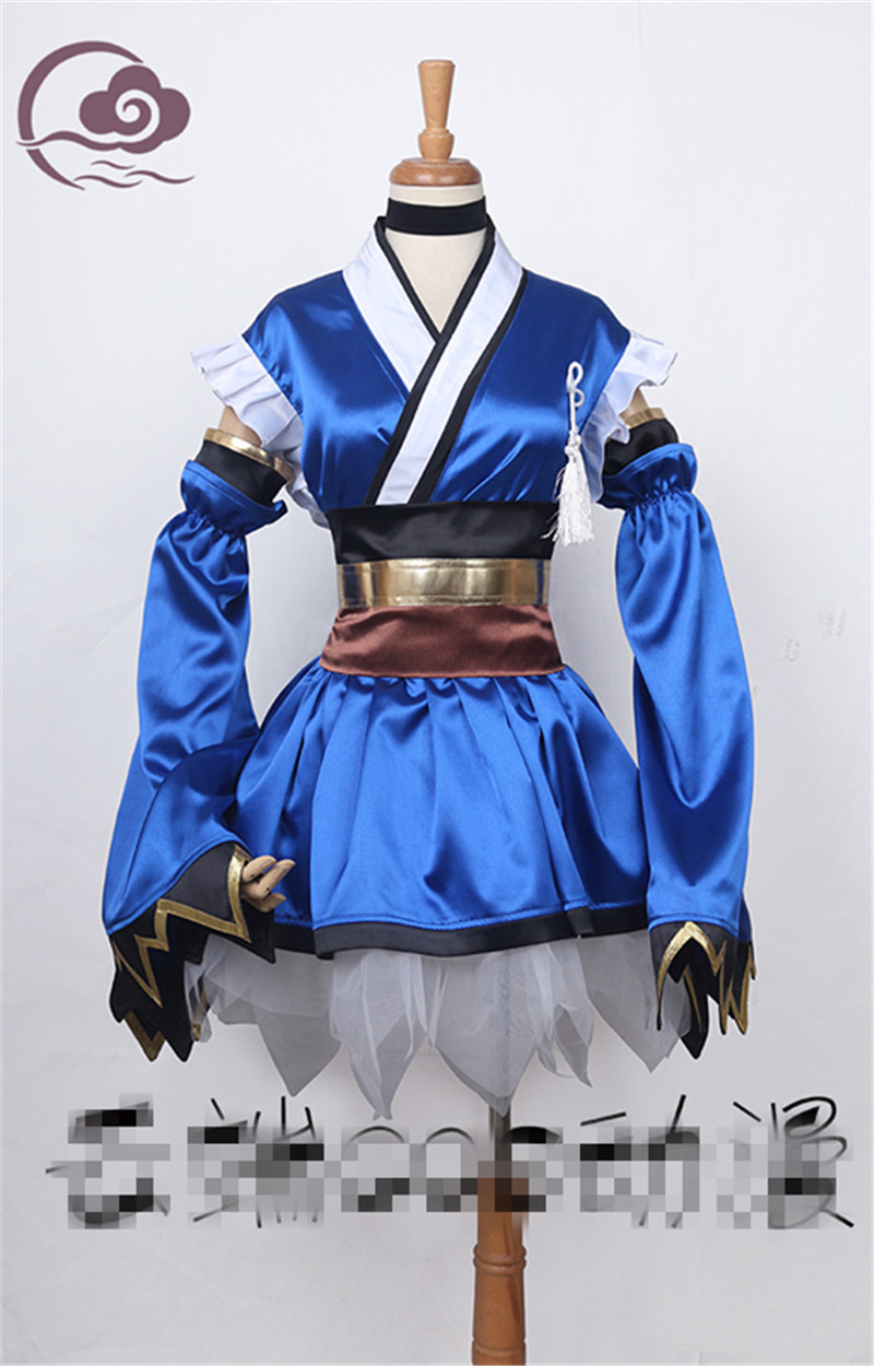 Anime Game Fate/Grand Order FGO Stay Night Tamamo No Mae Cosplay Costume Custom Made Dress alice madness returns heroine alice cosplay costume black white striped customized anime uniform