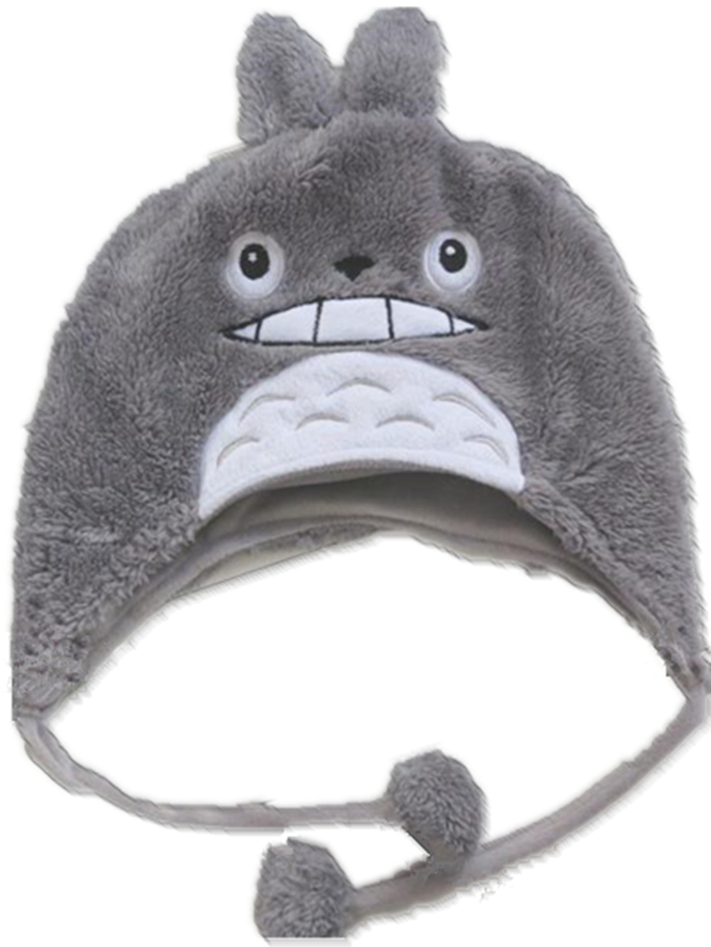 цены на New Soft Cartoon Ghibli Gray Cat style Plush Hat /Cute Fluffy WARM kids children Winter spring Cap Cosplay Costumes Figure gift