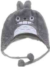 New Soft Cartoon Ghibli Gray Cat style Plush Hat /Cute Fluffy WARM kids children Winter spring Cap Cosplay Costumes Figure gift