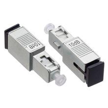 цена на 10PCS SC UPC 5bd Simplex mode fiber optic Attenuator SC 5dB metal male Fiber Attenuator
