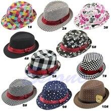 Baby Kids Children Trilby Toddler Boys Girls Fedora Jazz Hat Outdoor Cotton Cap B116