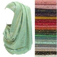 ทองG Littersหัวของผู้หญิงผ้าพันคอมุสลิมฮิญาบห่อนุ่มผ้าที่มีน้ำหนักเบา