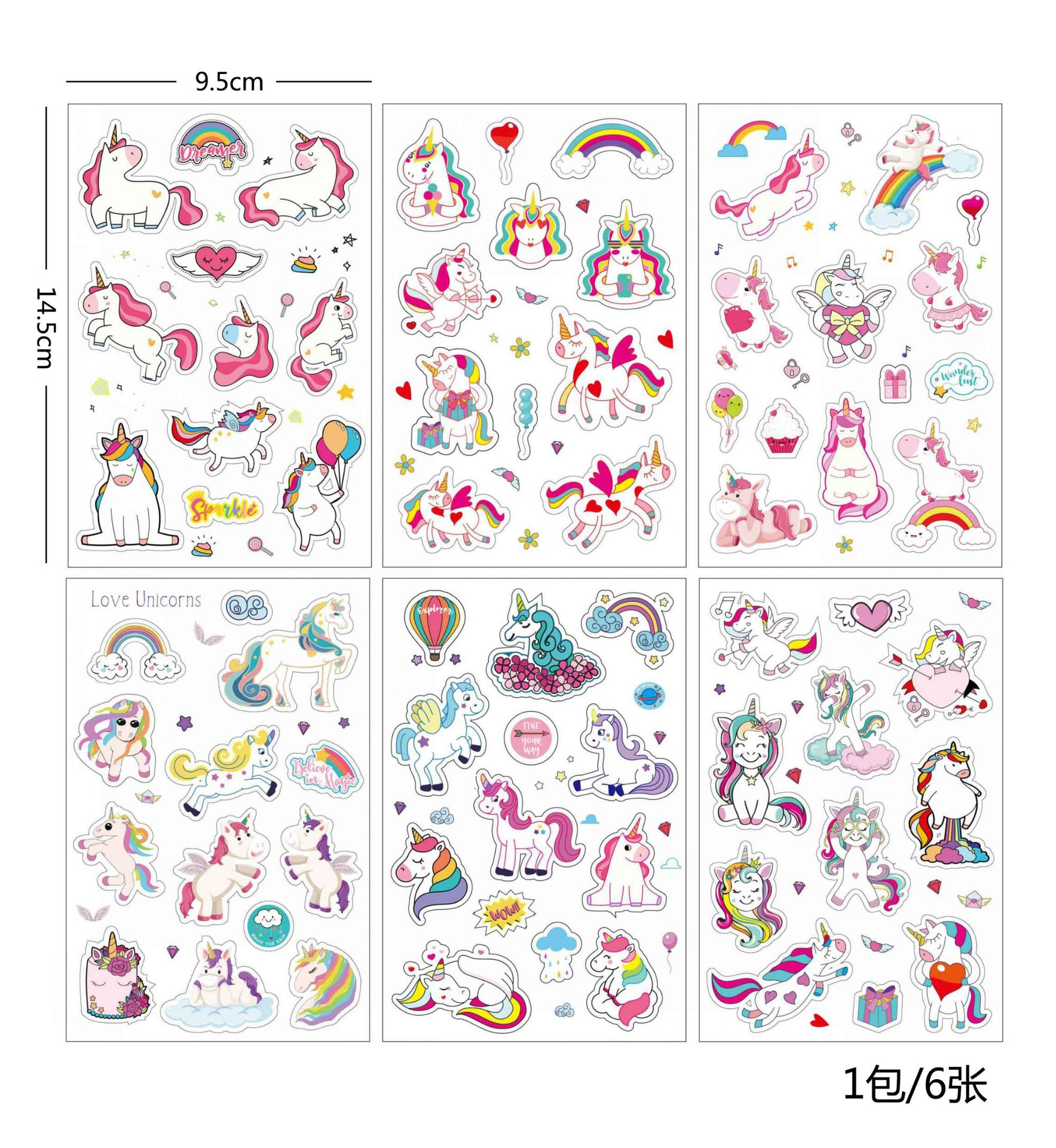 Office & School Supplies Enthusiastic 6 Pcs/pack Cartoon Unicorn Bullet Journal Decorative Stationery Stickers Scrapbooking Diy Diary Album Stick Lable Elegant And Graceful