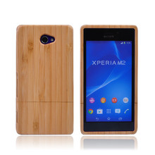 Nature Bamboo Coque Skin Cover Wood Case For Sony Xperia M2 S50H D2303 D2305 D2306 +Screen Protector + Package + Tracking Number