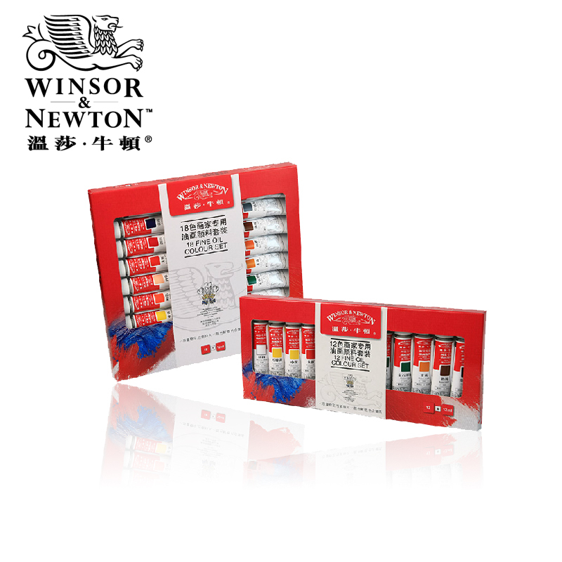 Winsor&Newton 12-18 Colors 12ml Professional Oil Paints Set Artists Each Tube Oil Painting Pigment Art Supplies цена