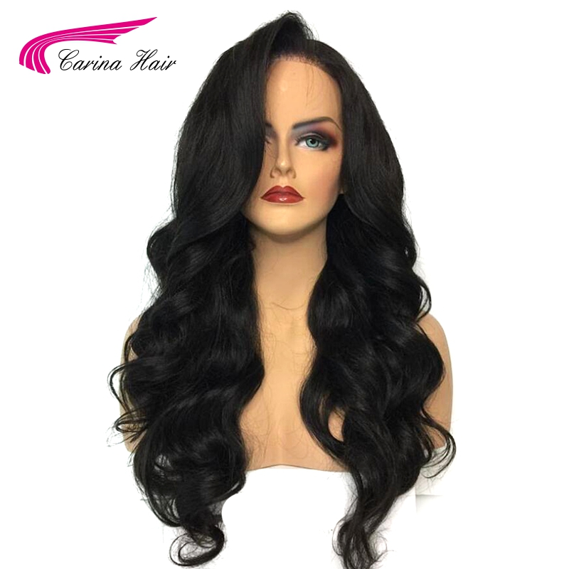 Carina 13*6 Deep Part Pre Plucked Lace Front Human Hair Wigs with Baby Hair Natural Color Brazilian Remy Hair Loose Wave