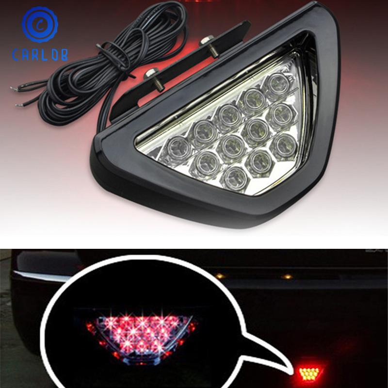 1PC Auto Car Motorcycle LED Flashing Rear Brake Stop Tail Signal Light Bulbs 12V
