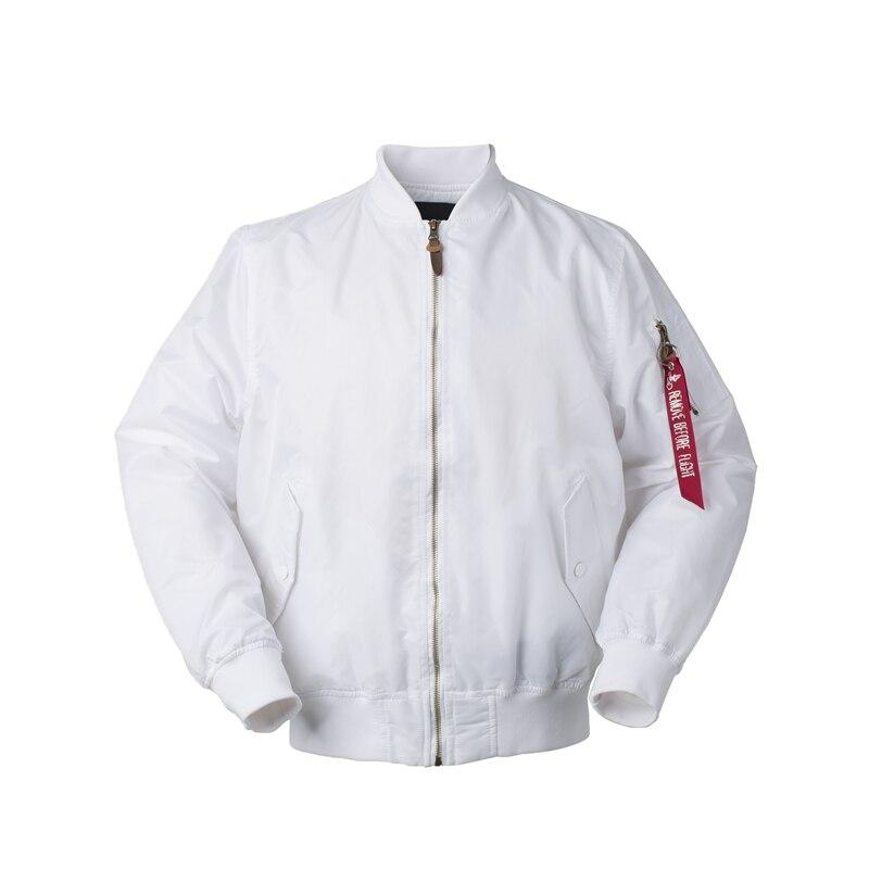 Image 2 - 2018 Autumn Thin White Ma1 bomber flight rain windbreaker waterproof varsity letterman air force baseball jacket for men/women-in Jackets from Men's Clothing