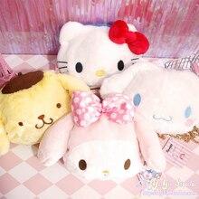 Мультяшная милая плюшевая кукла hello kitty My Melody Cinnamoroll pomparin, сумка через плечо, детский бумажник кошелек сумка для девочек, подарки