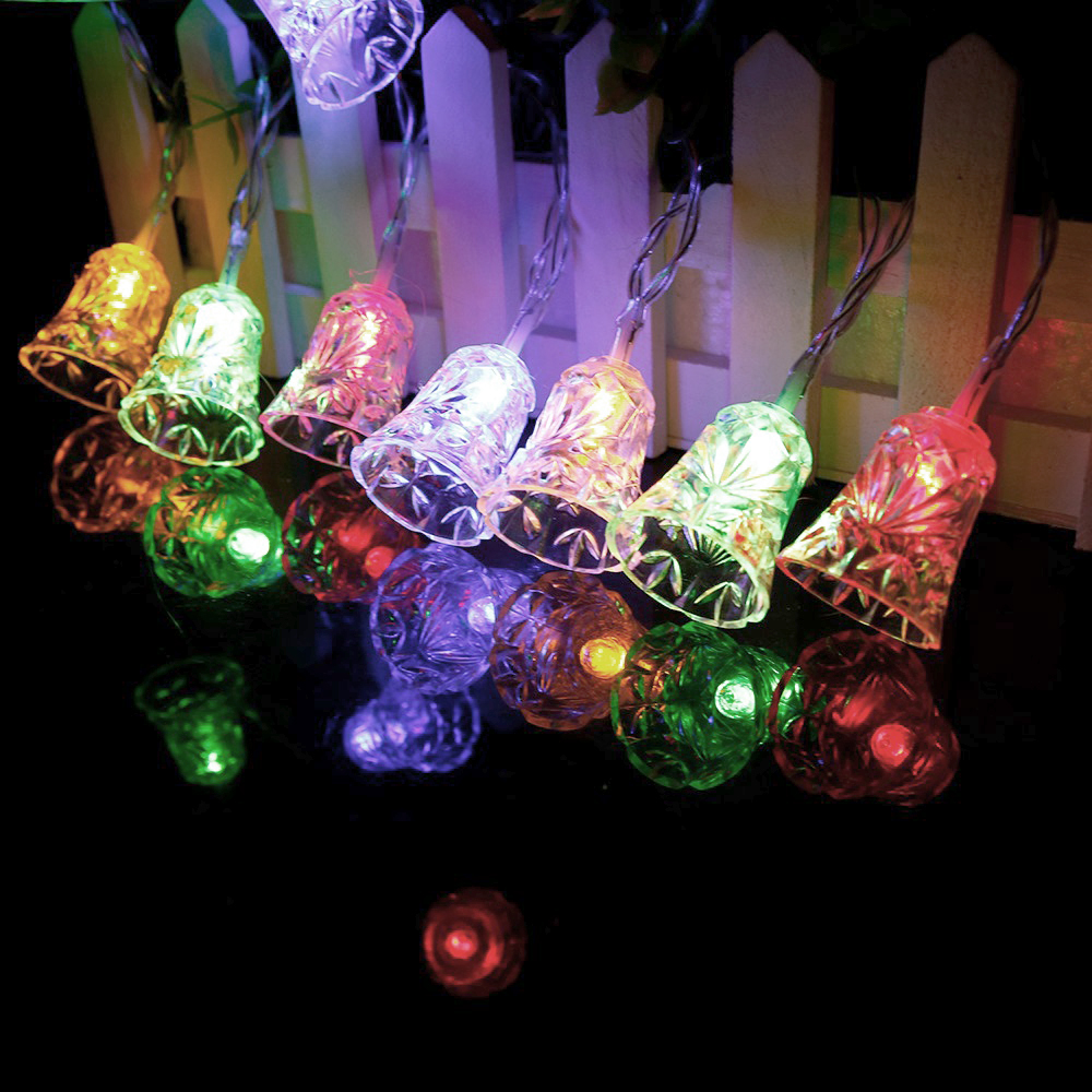 1m 2m LED Decorative String Light Bell Shaped Garland For Christmas Lights Outdoor Wedding Party Holiday Decoration HQ