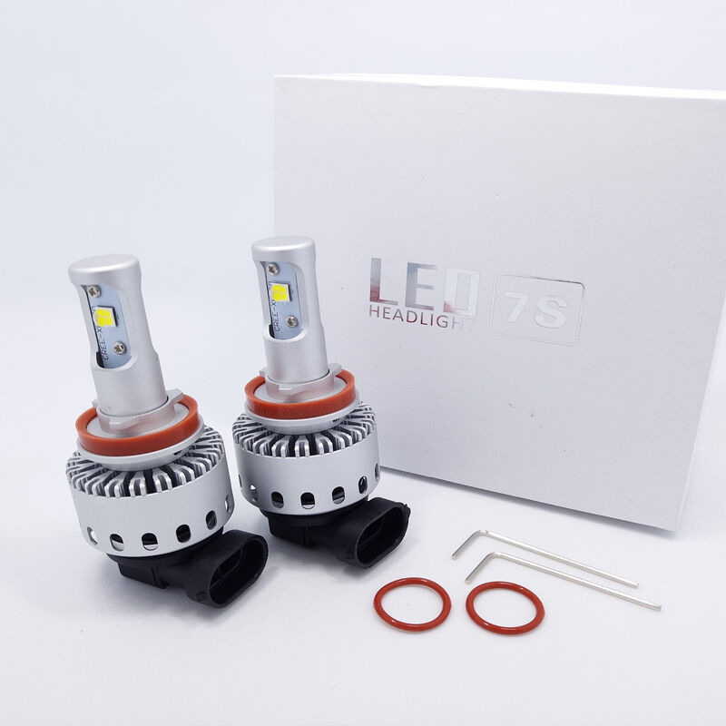 1 Pair Automotive <font><b>LED</b></font> headlamp <font><b>7S</b></font> super bright 40W far and near focus H3H4H7H119005 refitted bulb image