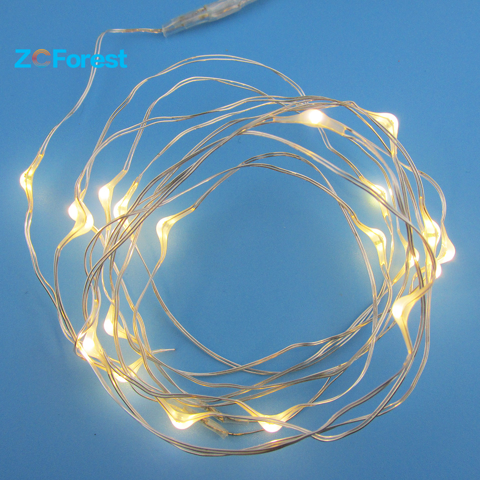 2m Christmas Lights Outdoor Led Fairy Lights Battery Operated Copper Wire String Christmas Tree Party Wedding Indoor Decoration