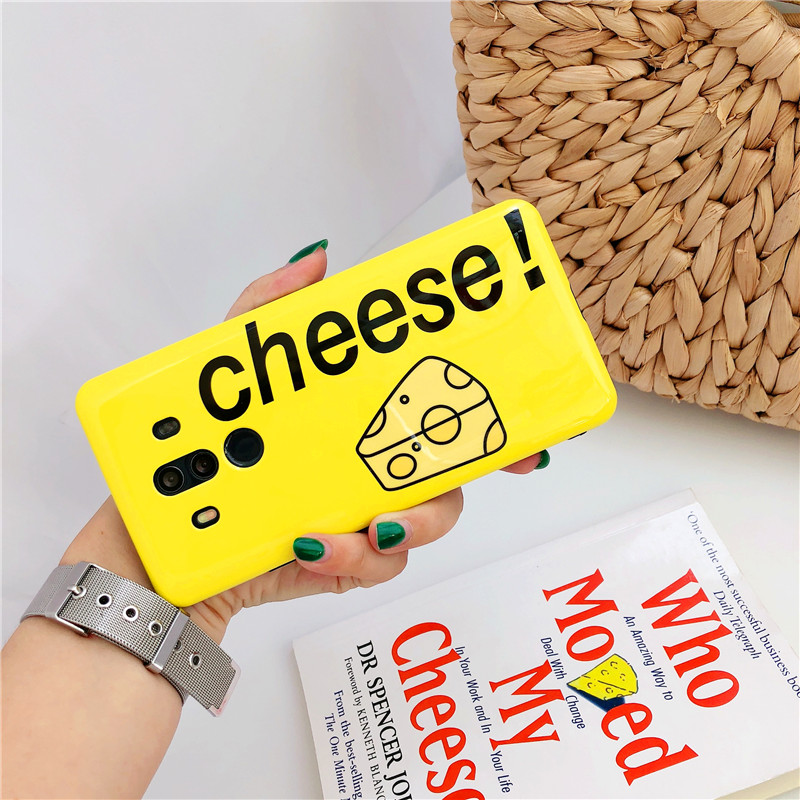 Candy Color Cheese Phone Case For Honor 9 10  Nova 3 2s Huawei Mate pro P10 plus P20 Pro Soft Cover Cute Coque