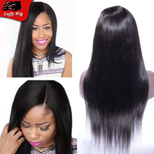 Glueless Lace Front Side Part Human Hair Wigs With Bleached Knots Virgin Brazilian Full Lace Wigs Silky Straight Lace Front Wig