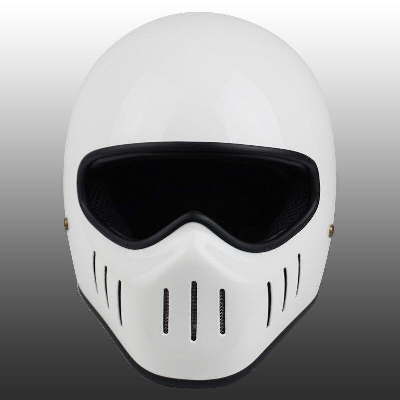 Image 5 - VCOROS Japanese TT CO full face motorcycle helmet fibe glass motorbike helmet Ghost Rider vintage racing locomotive moto helmet-in Helmets from Automobiles & Motorcycles