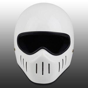 Image 5 - VCOROS Japanese TT CO full face motorcycle helmet fibe glass motorbike helmet Ghost Rider vintage racing locomotive moto helmet