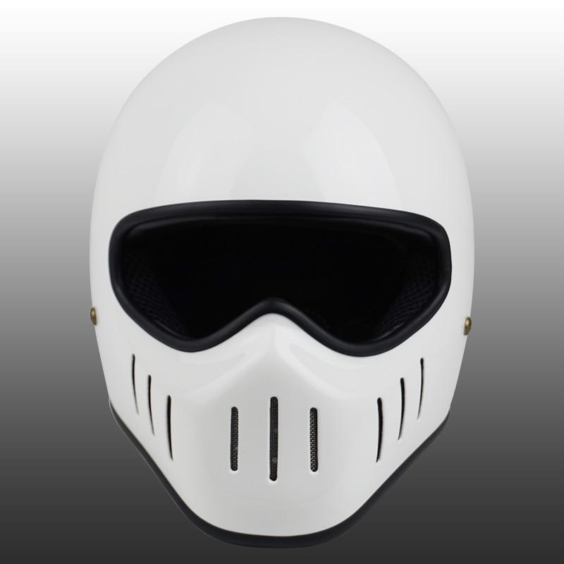 Image 5 - VCOROS Japanese tt&co full face motorcycle helmet fibe glass motorbike helmet Ghost Rider vintage racing locomotive moto helmet-in Helmets from Automobiles & Motorcycles