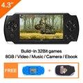 Envío gratuito 4,3 ''Handheld consola de juegos portátil de 8 GB Video juego incorporada de 1200 + real reano-repito gratis juegos clásicos apoyo MP3/4