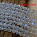 Pick Size 4.6.8 .10MMmm Natural Moonstone Stone Round Loose  Beads Free Shipping-F00191