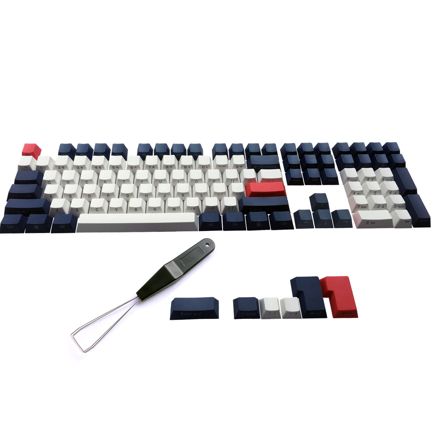 PBT <font><b>Keycaps</b></font> Side Printed ANSI ISO Cherry MX Keycap Set For <font><b>60</b></font>%/TKL 87/104/108 MX Mechanical <font><b>Keyboard</b></font> Fit Anne iKBC Akko X Ducky image