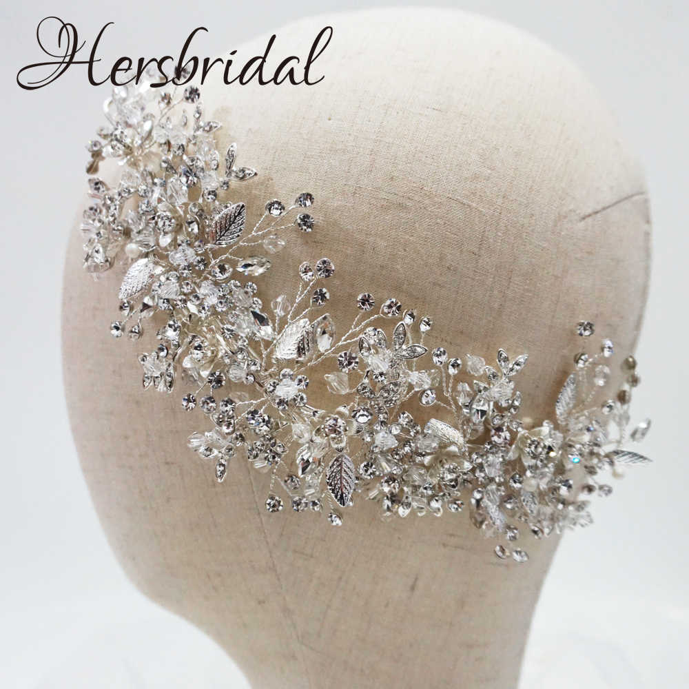 High Quality Crystal Bridal Hair Comb Handmade Rhinestone Wedding Headpiece Hair Jewelry Brides 2019