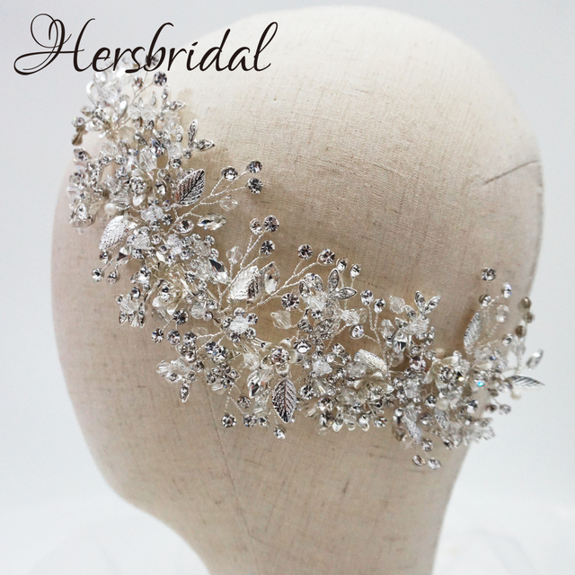 High Quality Crystal Bridal Hair Comb Handmade Rhinestone Wedding Headpiece Hair Jewelry Brides 2019
