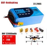 2017 DXF Lipo Battery 22.2V 22000mAh Lipo 6s 25C Battery EC5 Plug Batteries for Quadcopter UAV Drones RC Helicopter Drone
