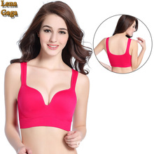 SEXY Seamless One Piece Women Sports Bra Fitness top Wire free Full Cup Cotton Bra Summer
