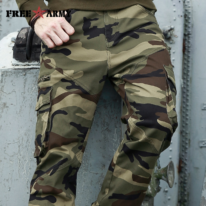 Autumn Brand Men Fashion Military Cargo Pants Multi-pockets Baggy Men Pants Casual Trousers Overalls Camouflage Pants Man Cotton