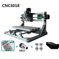 Миниатюрный лазерный резак гравировки лазерный гравер маршрутизатор ER11 GRBL машины для дерева PCB ПВХ мини ЧПУ CNC3018