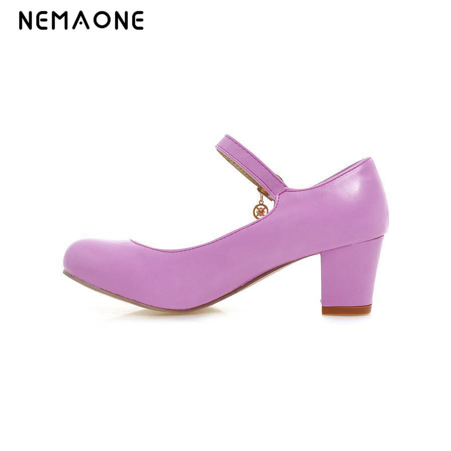 NEMAONE New spring and autumn Fashion High Heels Round Toe women Shoes Sexy Buckle mary jane women Pumps siketu 2017 free shipping spring and autumn women shoes fashion sex high heels shoes red wedding shoes pumps g107