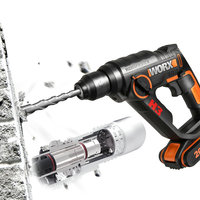 New Arrival Portable Multifunction Electric Hammer Drill/Screwdriver 20V Lithium Ion Battery 1 Charger and Toolbox
