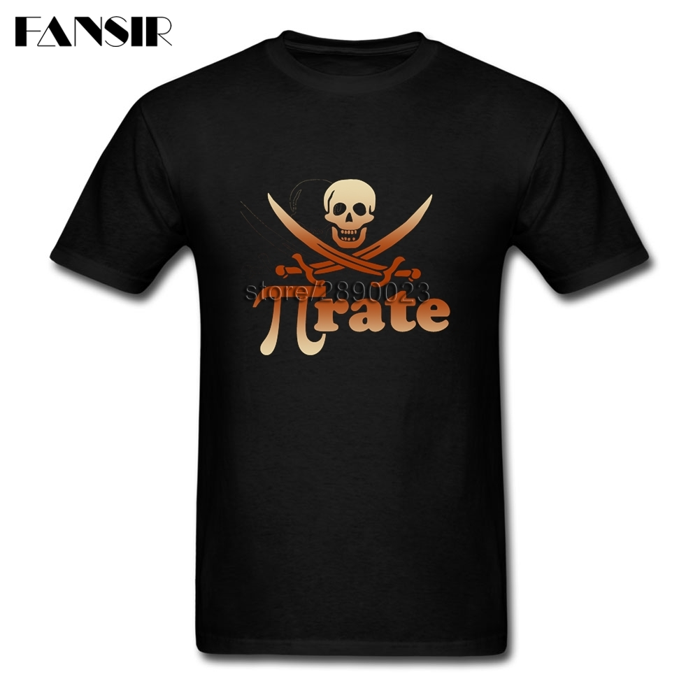 Geek Pirate Pi Rate Math T-shirt Homme Short Sleeve Cotton Custom Men Tee Shirt Tops Tee Big Size