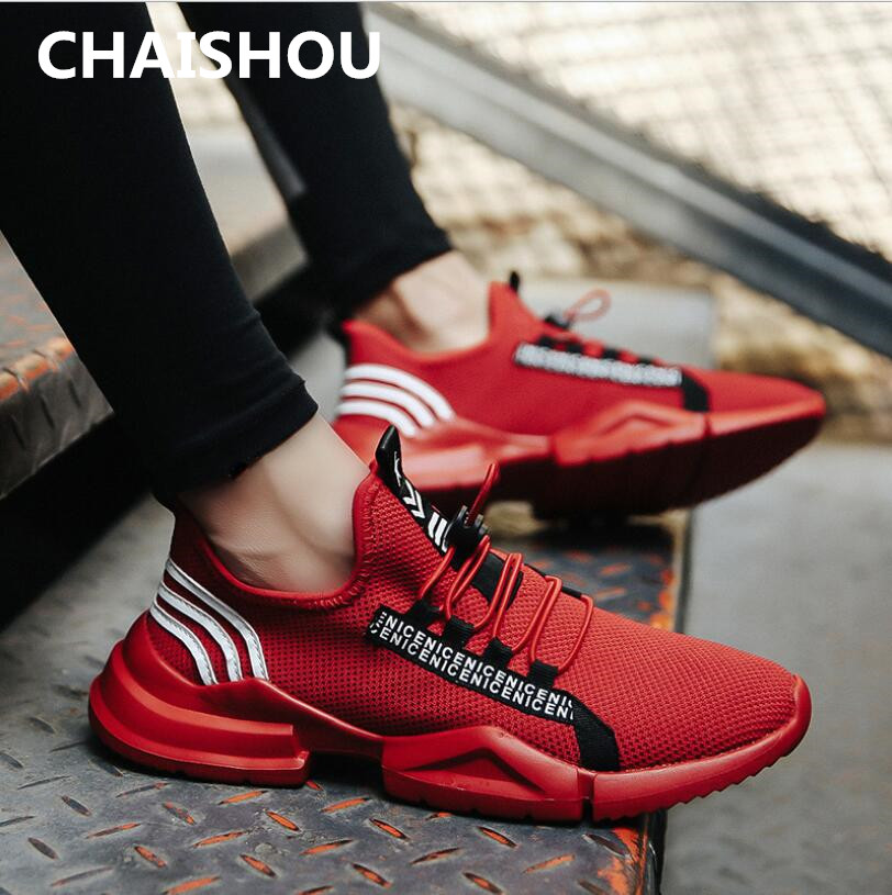 Chaishou Casual 2019 Sapato Hommes Masculino Nouveau 282 Black Footwears  Respirant Printemps white Mode Tissé Chaussures red F Sneakers rrxqXd 524b066b8896