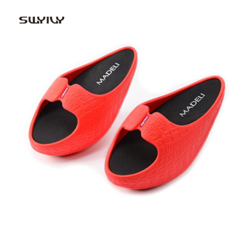 SWYIVY Women Toning Shoes Message Sports Lose Weight Slippers 2018 New Fitness Negative Heel Stovepipe Swing Shoe For Female