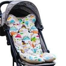 Baby Printed Stroller Pad Seat Warm Cushion Pad mattresses Pillow Cover Child Carriage Cart Thicken Pad Trolley Chair CushionA