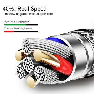 Image 3 - 1m 2m 3m Nylon tressé Micro USB câble données synchronisation USB chargeur câble pour Samsung Huawei Xiaomi Android téléphone câbles charge rapide