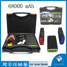 Factory Supply Multi-function Mini Jump Starter 68000mAh 12V Car Battery Charger Power Bank For Tablet Smartphone