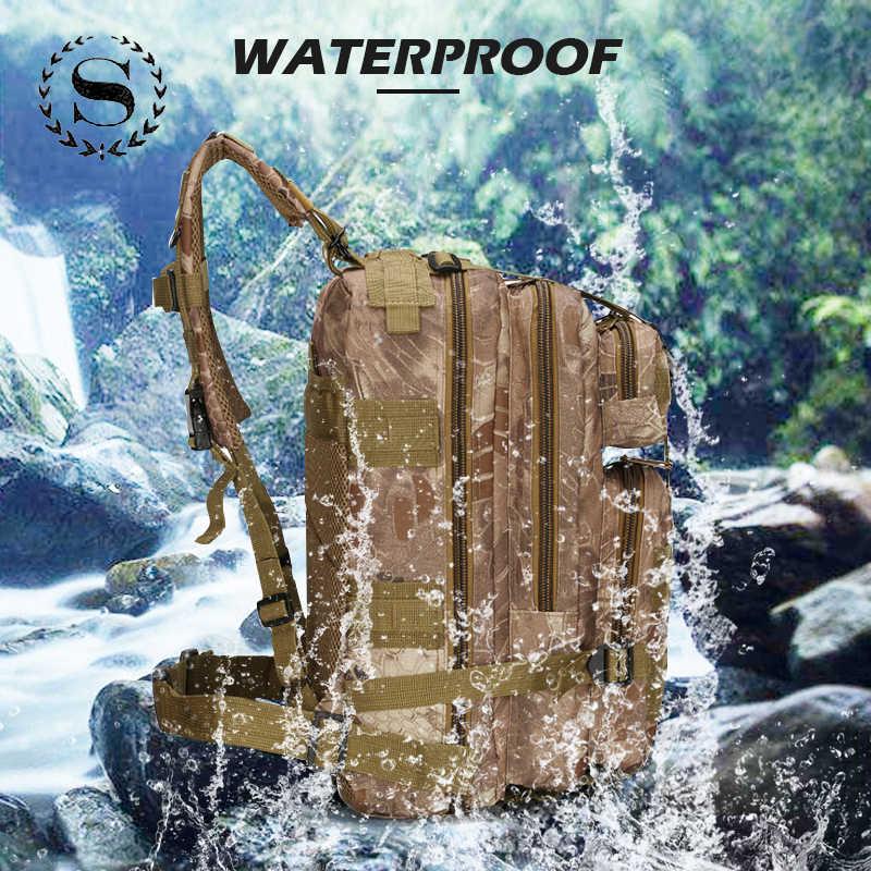 Scione 1000D Military Outdoor Rucksäcke Taktische Camouflage Taschen Wasserdichte Nylon Schulter Pack Für Unisex Wandern Reise Camping