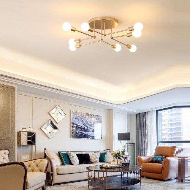 Modern LED Ceiling Chandelier Lighting Living Room Bedroom Chandeliers  Creative Home Lighting Fixtures AC110V/220V Modern