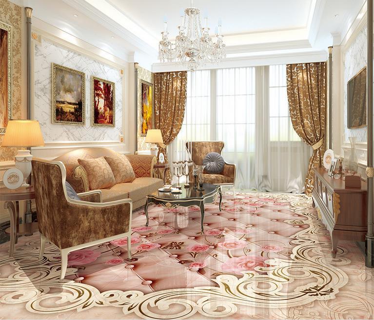3D Boden Tapete Marmor Marmor Textur Wohnzimmer 3D