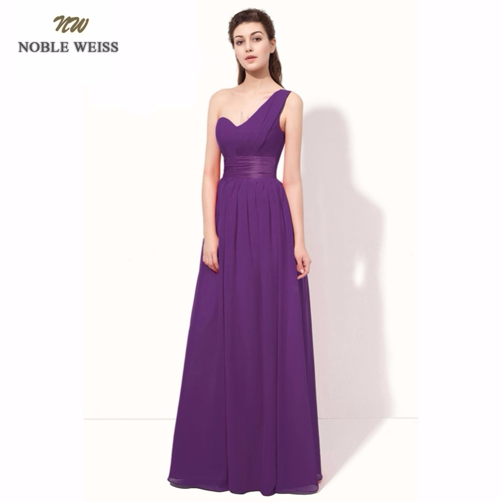 NOBLE WEISS Long Evening Dresses 2019 Simple Women Chiffon Pleated A-Line Evening Gown Custom Made Prom Dresses