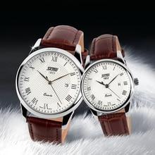 New Lovers Watches Fashion Business Quartz Watch Waterproof Brand Leather Band Casual Wristwatch Women Calendar Gold
