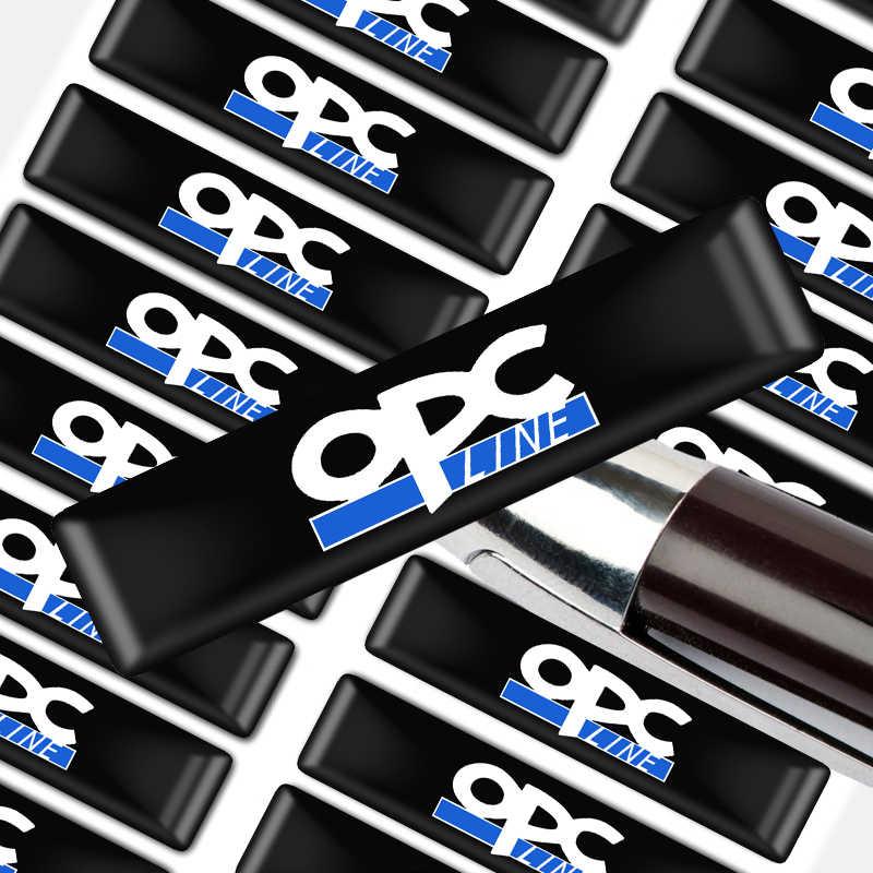 10 pcs Car styling OPC Sline Protezione bar Adesivi Decorativi Distintivo per OPEL OPC Zafira b Corsa d Insignia Mokka regal Astra g