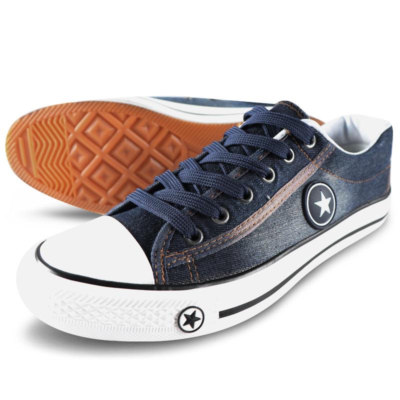 Femmes Sneakers Chaussures en Toile Casual Denim Plus La Taille 34-44 D'été Femelle Étoiles Formateurs Dames Dentelle-up Panier femme Tenis Feminino